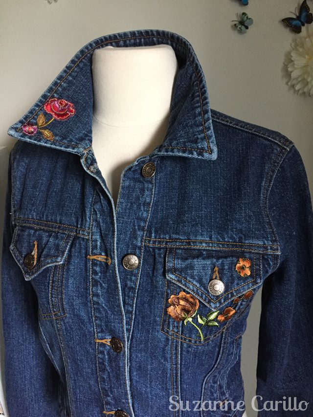 embroidered patches jean jacket