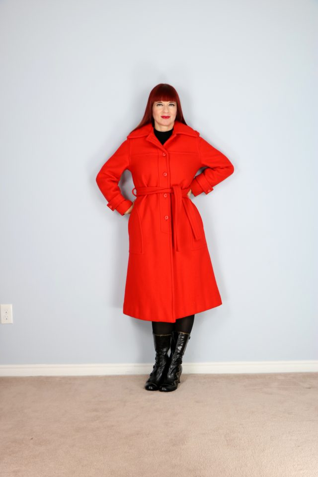 buy vintage 1960s bright orange winter wool coat online suzannecarillo