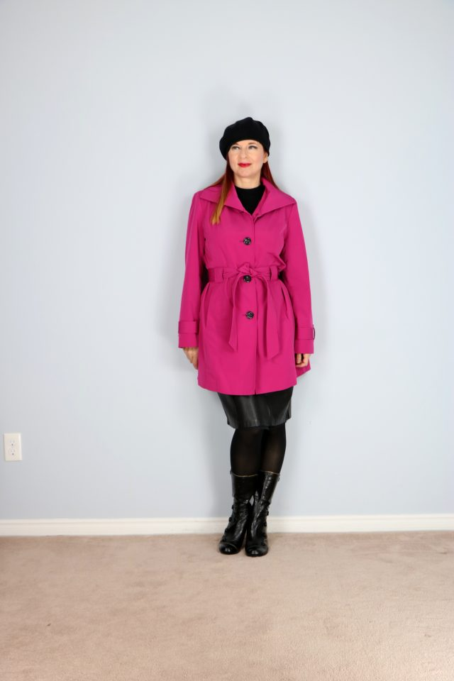 classic bold pink london fog trench coat for sale suzannecarillo