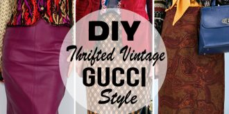 DIY Thrifted Vintage Gucci Inspired Look