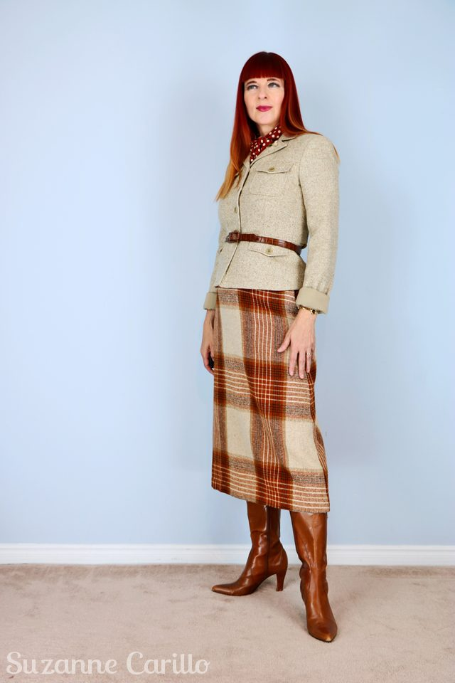 for sale vintage plaid skirt styled for women over 40 vintagebysuzanne on etsy