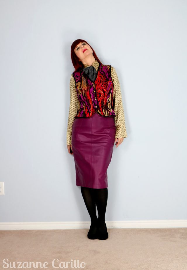 DIY thrifted vintage gucci inspired look. Style over 50 suzanne carillo