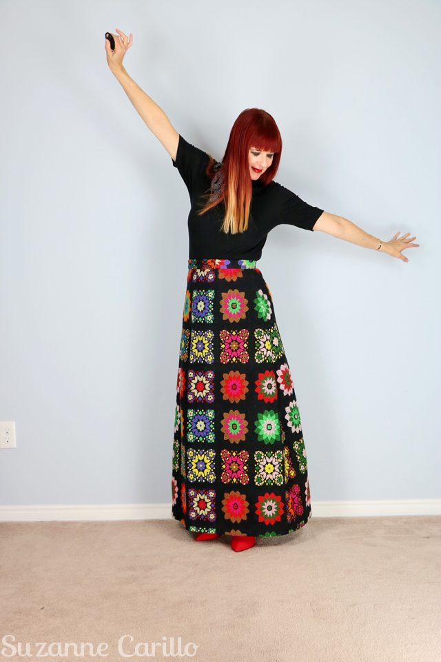 how to style a vintage skirt over 40 suzanne carillo