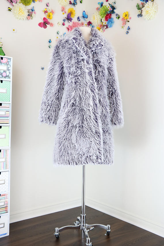 shaggy fur coat for sale