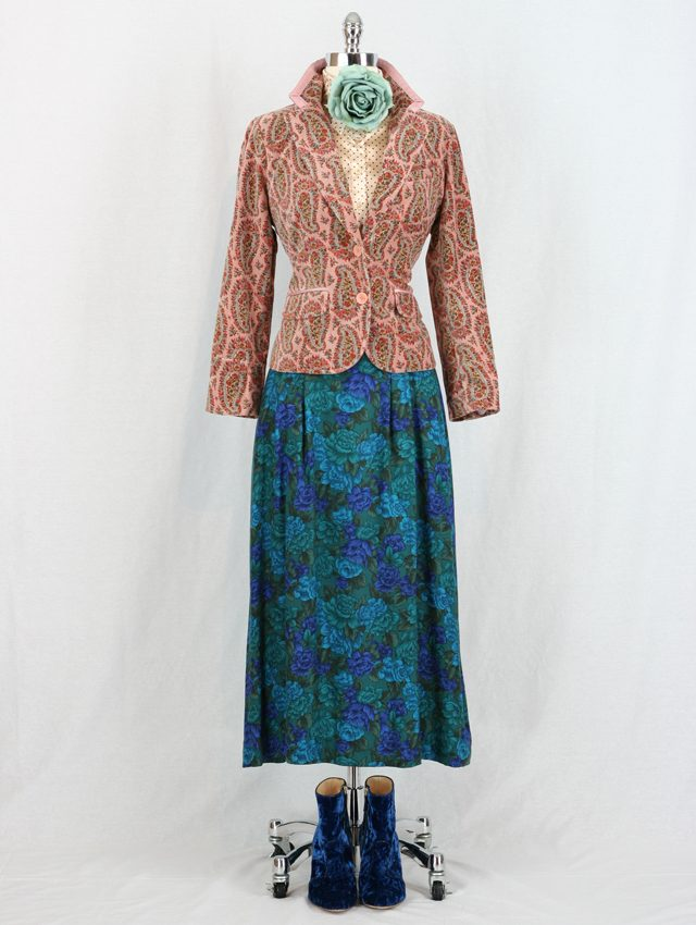 vintage floral skirt styled gucci geek chic for sale vintage by suzanne