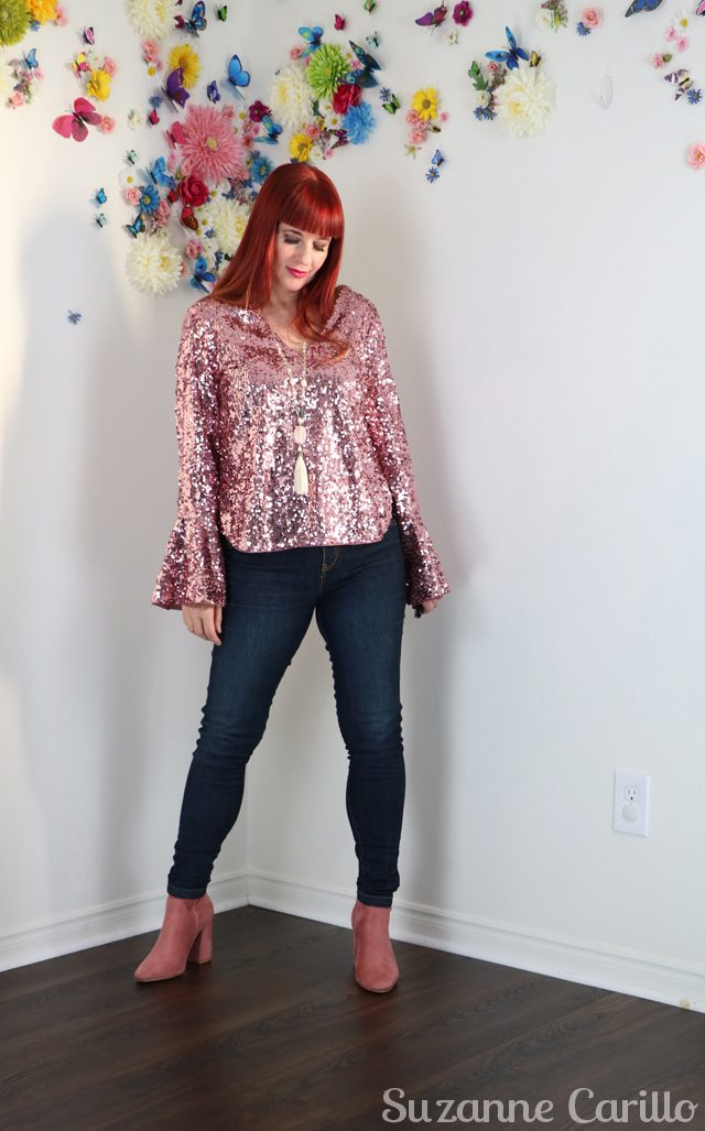 Pinterest is an enabler. Wearing sequins for the day.