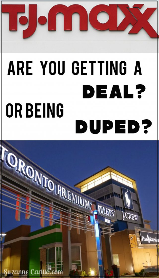Are you getting a deal or being duped. Outlet stores & TJ Maxx deceiving ways.