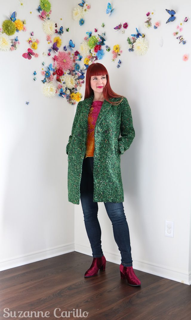 Skinny jeans forever and how to style a green coat suzanne carillo
