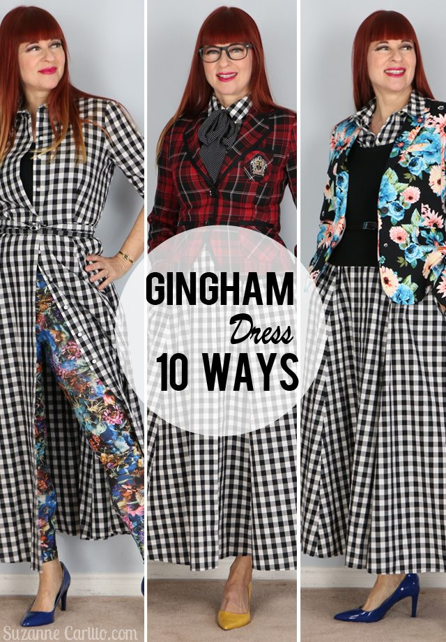 gingham dress styled 10 ways