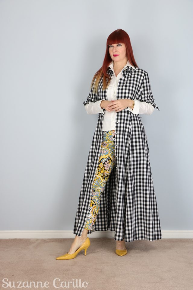 how to style gingham with another bold print for spring suzanne carillo style
