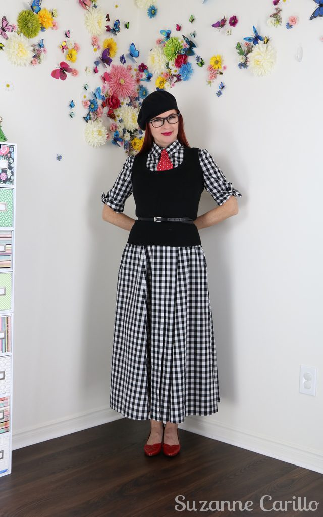 style a gingham dress masculine suzanne carillo style over 40