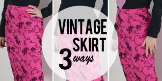Vintage Pencil Skirt Three Ways – Wear Vintage Over 50