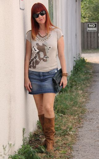 Jeans skirt boots – Modern skirts blog for you