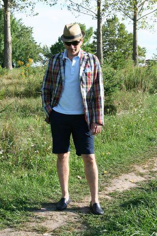 Robert plaid jacket with shorts