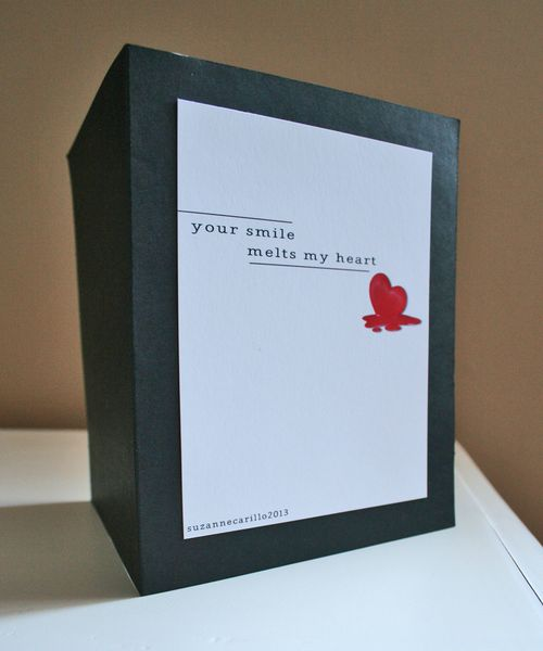 Your smile melts my heart valentine card