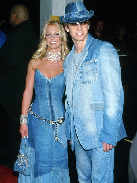 Britney-Spears-Justin-Timberlake-denim outfits