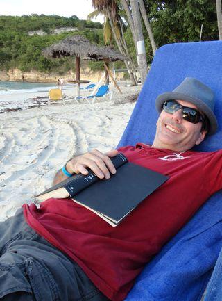 Robert reading beach