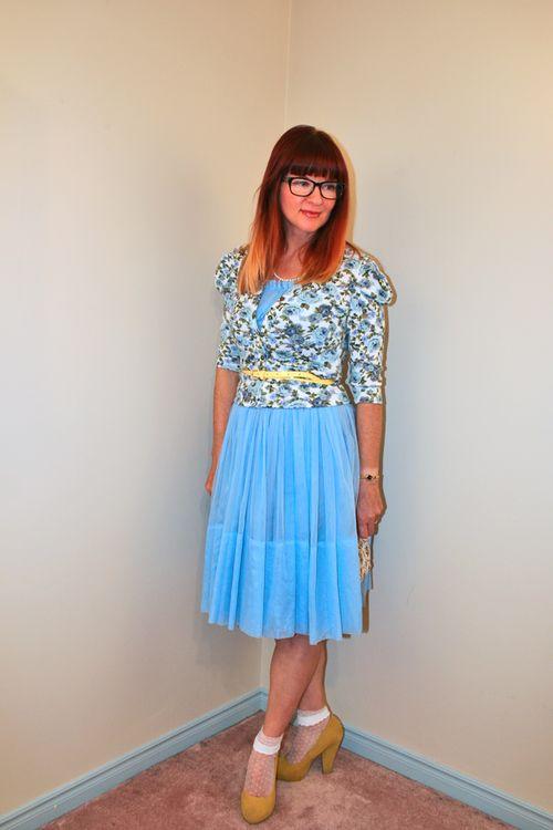 Blue 1950's vintage dress