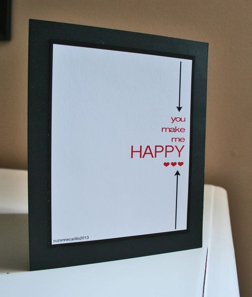 You make me happy printable card