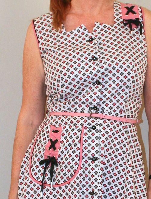 1940s dress details
