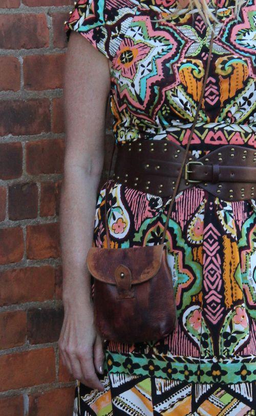 Brown vintage cross body bag