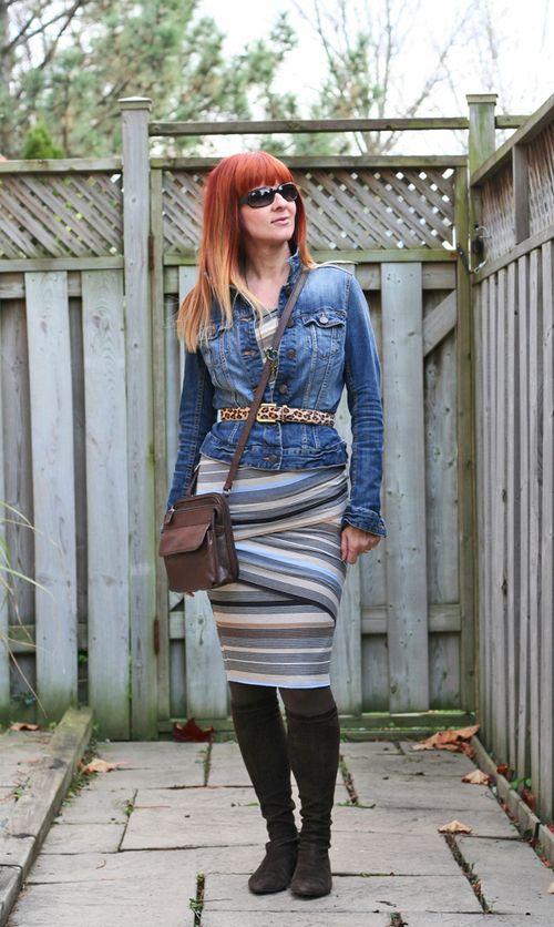 Jean jacket bandaid dress