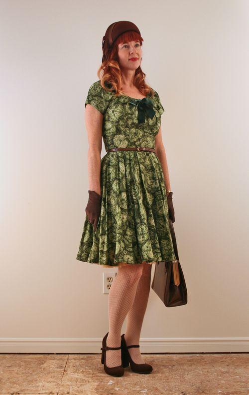 Green 1950's vintage dress cabaret vintage