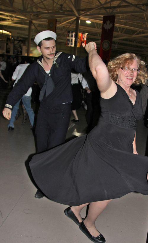 Sailor swing dancing