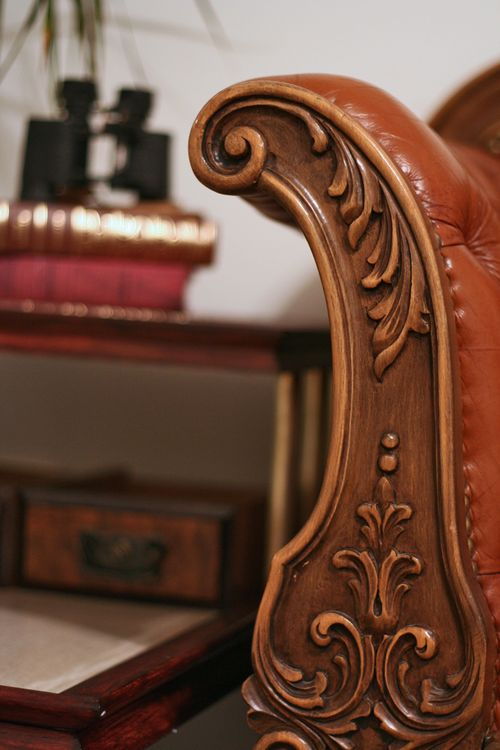 Carving antique couch