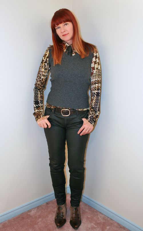 Leopard blouse boots consignment store Consignment store shopping tips