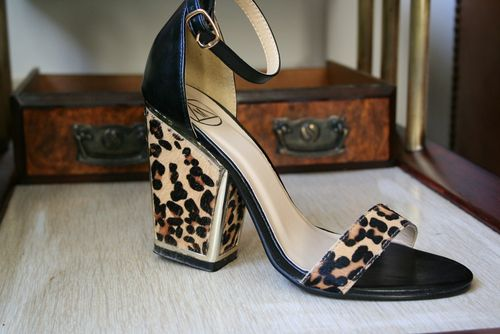 Missguided leopard sandals