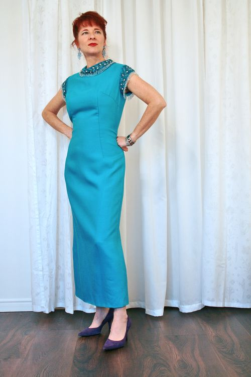 Blue_beaded_1960s_vintage_gown