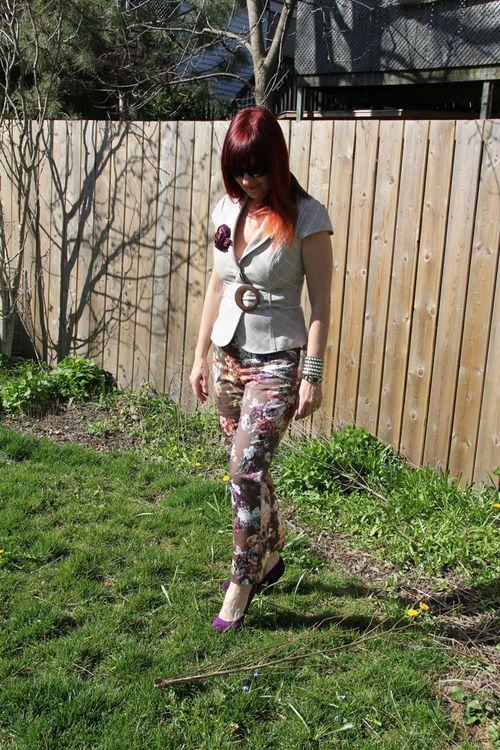 Floral pants suzanne carillo