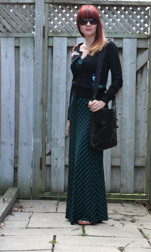 Banana republic striped maxi dress