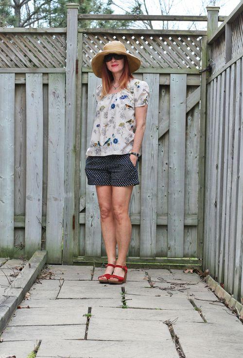 Cute summer outfit polkadot shorts