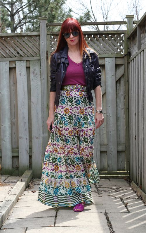 How to wear a maxi skirt anthropologie jewel belt