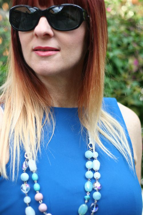Suzanne carillo style files blue peplum top zara