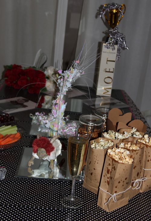 Craft service table oscar party