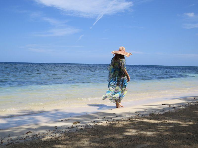 Walking on the beach montego bay