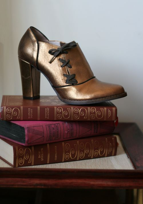 Bronze anthropologie shoes