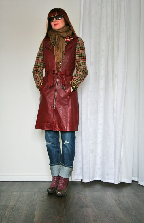 How to layer a leather vest danier red leather vest