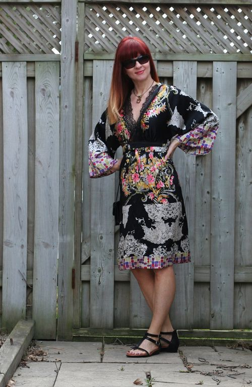 Kimono dress in silk suzanne carillo style files