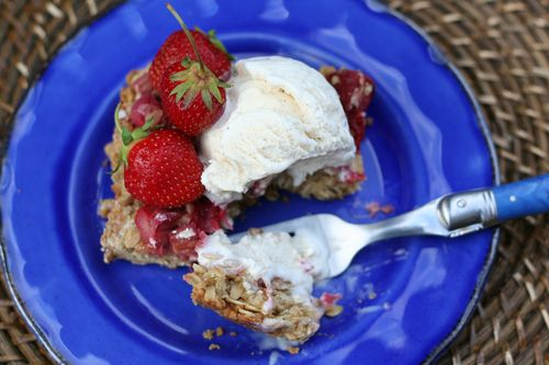 Strawberry rhubarb crisp summer recipe suzanne carillo style files