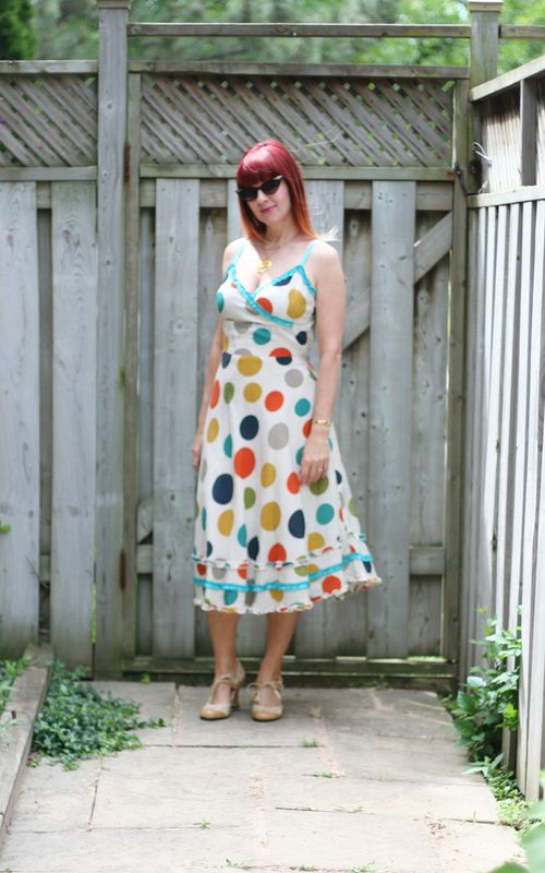 Yumi summer dot dress midi dress how to dress for summer over 40 suzanne carillo style files
