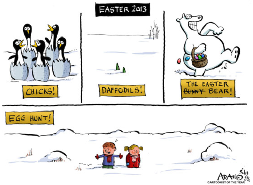 Easter in the snow