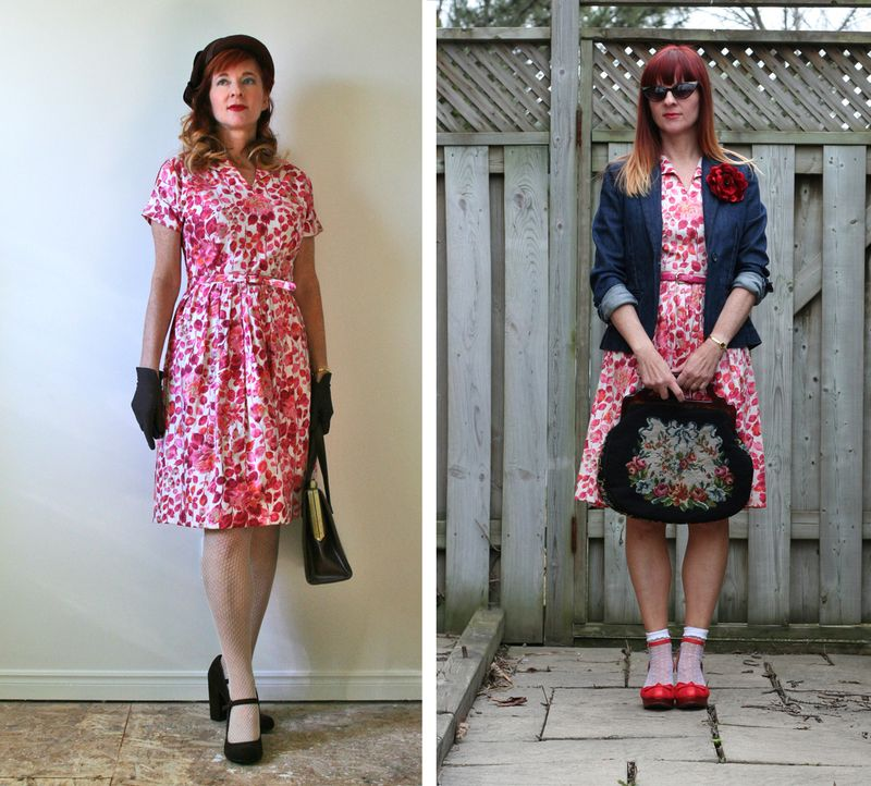 How to style a vintage dress