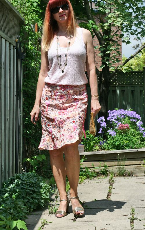 Pink embroidered nanette lepore skirt suzanne carillo style files
