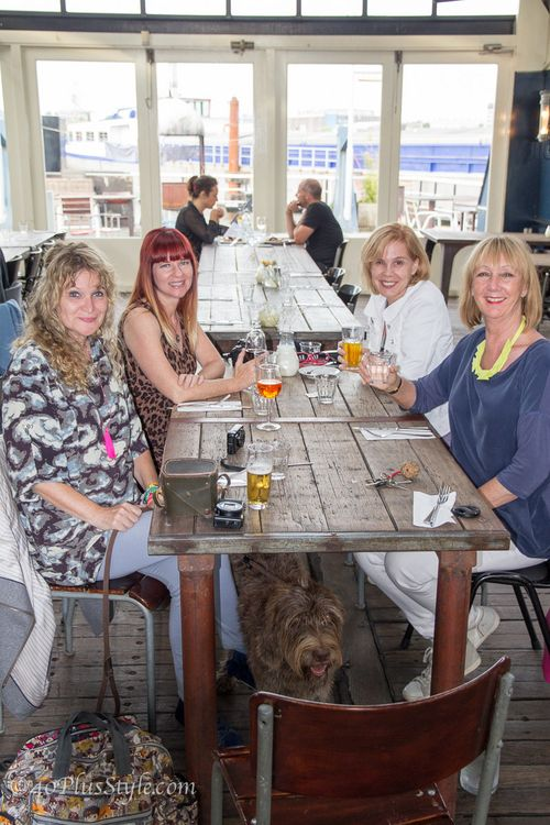 Eating out supper in boat amsterdam photo by 40 plus style suzanne carillo style files