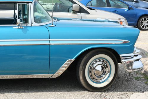 Blue vintage car 1950s