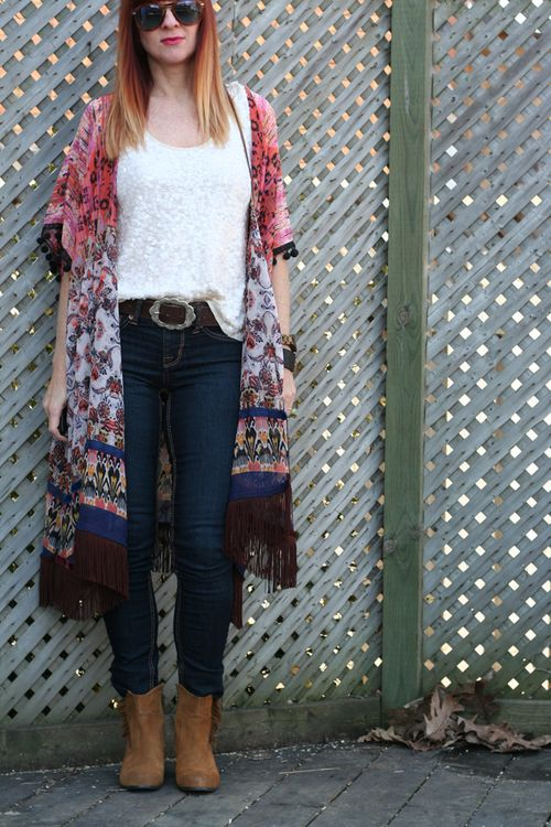 How to wear sequins during the day How to wear a kimono with sequins